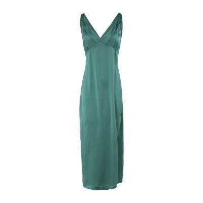 アルファスタジオ ALPHA STUDIO ロングワンピース&ドレス グリーン 44 シルク(マルベリーシルク) 100% ロングワンピース&ドレス
