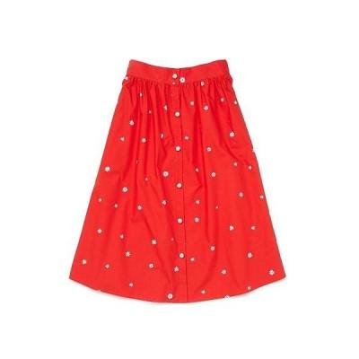 ban.do レディース 女性用 ファッション スカート Daisies Easy Button-Up Skirt - Red