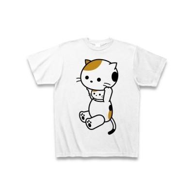 着ぐるみバイト三毛ねこ Tシャツ(ホワイト)