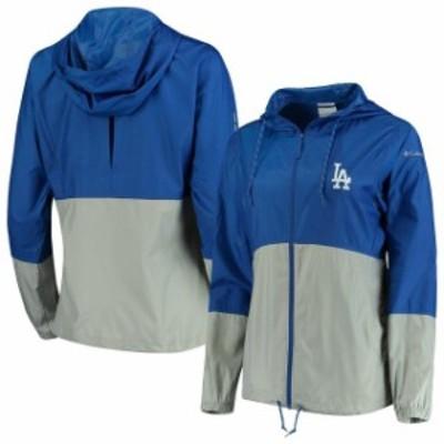 Columbia コロンビア スポーツ用品  Columbia Los Angeles Dodgers Womens Royal/Gray Flash Forward Windbreaker Jacket