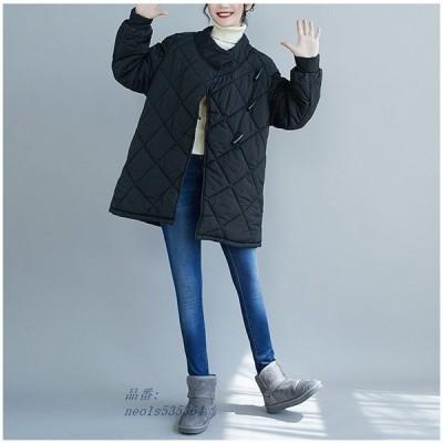中綿コート ロングコート キルティングコート 中綿 レディース 軽量 体型カバー アウター 黒 チェスターコート 暖かい ロング ゆったり 冬 大きいサイズ 40代