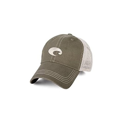 Costa Mesh Trucker Hat, Moss + Stone, One Size