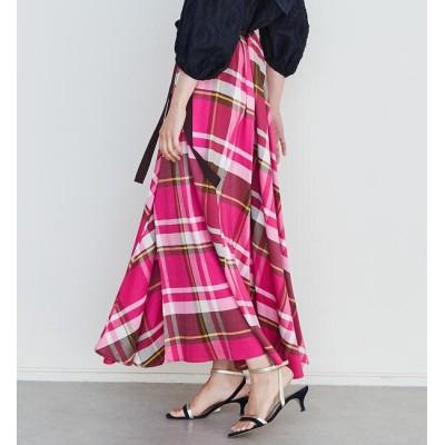 【トゥモローランド/TOMORROWLAND】 ラルジュチェック フレアマキシスカート