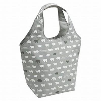 エコバッグ ショッピングバッグ 保冷 アニマル グレー ( トートバッグ 買い物バッグ 保冷バッグ レジバッグ 買い物袋 保冷 バッ