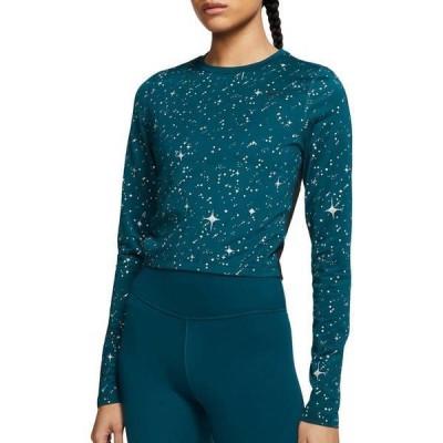 ナイキ レディース シャツ トップス Nike Women's Pro Warm Starry Night Cropped Long Sleeve Shirt