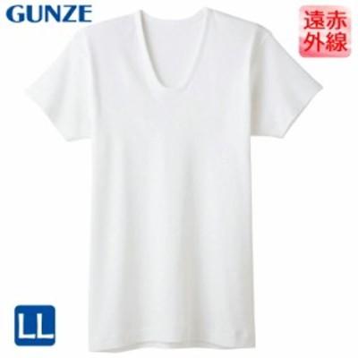 インナー メンズ GUNZE 快適工房 半袖U首(KH6016)遠赤外線加工 gunze グンゼ 大きいサイズ メンズ メンズインナー(02709)