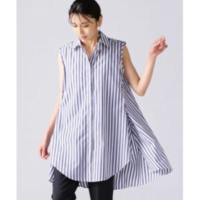 BAGUTTA / 別注 ストライプ ノースリーブシャツ