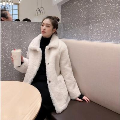 秋冬  ラシャコート 厚手 オーバー 韓国風アウター 通勤 着痩せ オシャレ 大きいサイズ