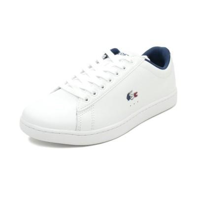 スニーカー ラコステ LACOSTE カーナビーエヴォ TRI 1 ホワイト/ネイビー/レッド SFA0048-407 レディース シューズ 靴 20Q1