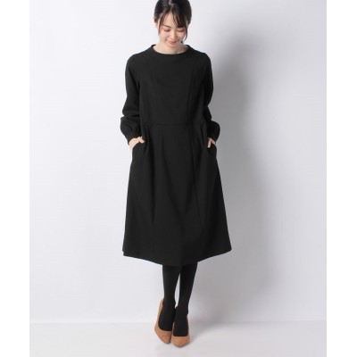 【ミス ジェイ】 ラフクレープツイルドレス レディース ブラック 40 MISS J
