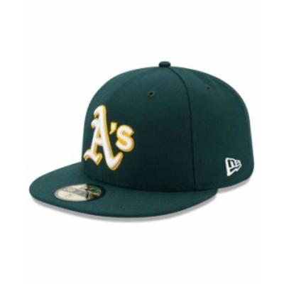 ニューエラ メンズ 帽子 アクセサリー Oakland Athletics Authentic Collection 59FIFTY Cap Green