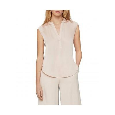 BCBGMAXAZRIA ビーシービージーマックスアズリア レディース 女性用 ファッション ブラウス Satin Notch Collar Top - Bare Pink