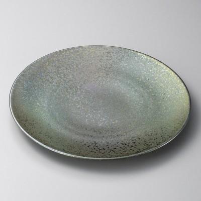 業務用食器 黒彩22cm丸皿 22.2×2.3cm 大皿