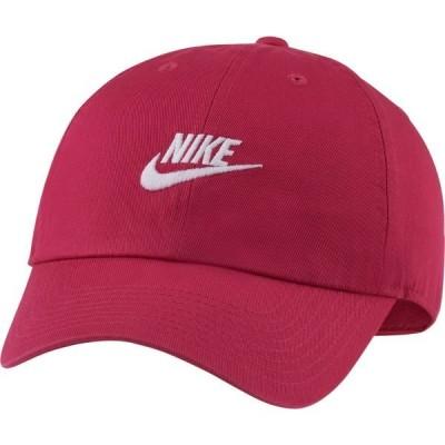 ナイキ 帽子 アクセサリー メンズ Nike Sportswear H86 Cotton Twill Adjustable Hat Fireberry