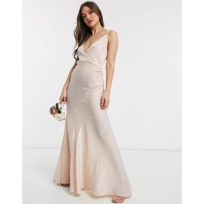 エイソス レディース ワンピース トップス ASOS DESIGN Bridesmaid washed satin cami maxi dress
