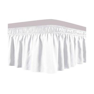 Obytex ラップアラウンドベッドスカート 25%コットン 伸縮性 ダストフリル シルクのように柔らか シワにならない クラシックでスタイリッシュな