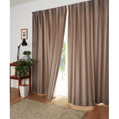 【送料無料!】モダンストライプ柄カーテン ドレープカーテン(遮光あり・なし) Curtains, blackout curtains, thermal curtains, Drape(ニッセン、nissen)