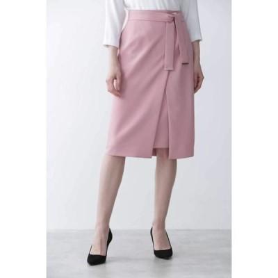 PINKY & DIANNE / ピンキーアンドダイアン [ウォッシャブル]メタルプレートベルト付ラップスカート