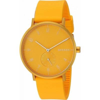 スカーゲン Skagen メンズ 腕時計 Aaren Kulor 41mm Three-Hand Silicone Watch SKW Yellow Silicone