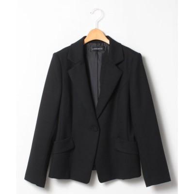 【ラピーヌ ルージュ】【大きいサイズ】【セットアップ対応】ウールピーチジョーゼット テーラードジャケット