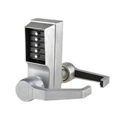 [新品]Kaba LR1011-26D-41 Cylindrical Push Button Lever Nko Rh Us26D