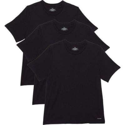 カルバンクライン Calvin Klein Underwear メンズ Tシャツ 3点セット 大きいサイズ Big & Tall Cotton Classics Short Sleeve Crew Neck 3-Pack Black