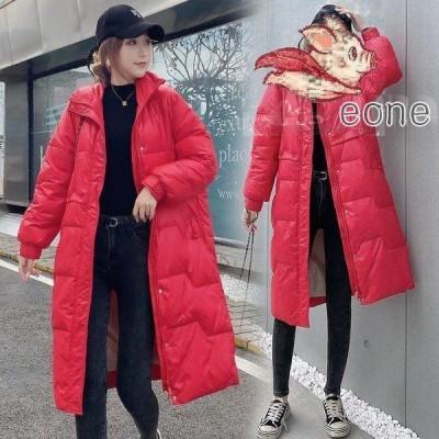 中綿ダウンコート レディース 40代 ロング丈 軽い 秋冬 アウター 中綿コート 中綿ジャケット ダウン風コート フード付き 防寒 暖かい
