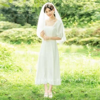 ウェディングドレス 二次会 リゾートドレス 結婚式 ブライダル 前撮り 旅行挙式 花嫁 サテン パーティードレス ワンピース ガーデンウェディング 後撮り 軽い