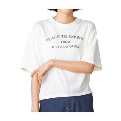 【バーゲン】プリントゆったりTシャツ M〜L 3050-368388
