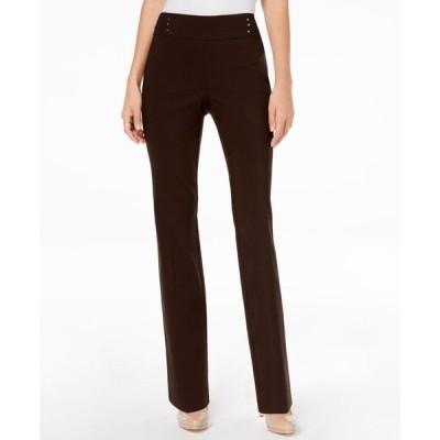 ジェイエムコレクション レディース カジュアルパンツ ボトムス Studded Pull-On Tummy Control Pants Regular and Short Lengths