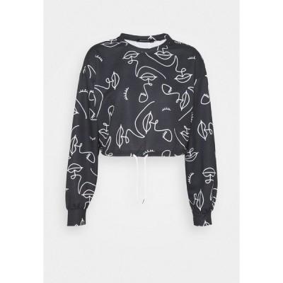 トレンドヨル パーカー・スウェットシャツ レディース アウター Sweatshirt - black