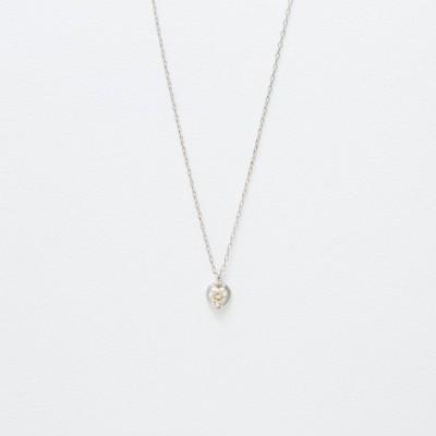 ネックレス レディース ホワイトゴールド 10金 ダイヤモンド K10 10k ブルーム ギフト プレゼント 普段使い