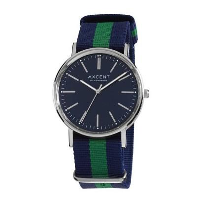 ワケあり アウトレット アクセント オブ スカンジナビア  X68004-21 VINTAGE 腕時計 AXCENT of scandinavia ブルー系