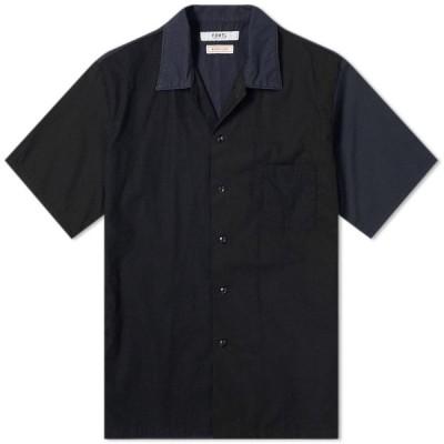 ファンダメンタル FDMTL メンズ 半袖シャツ トップス Short Sleeve Pocket Shirt Black