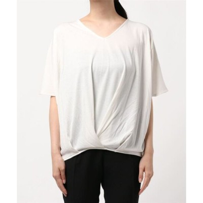 tシャツ Tシャツ WG アンチピリング+UV Vネックドルマンプルオーバー●
