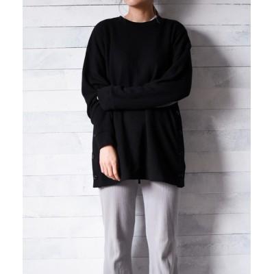 tシャツ Tシャツ 【69】【TRAP/U】サイドボタン 長袖カットソー