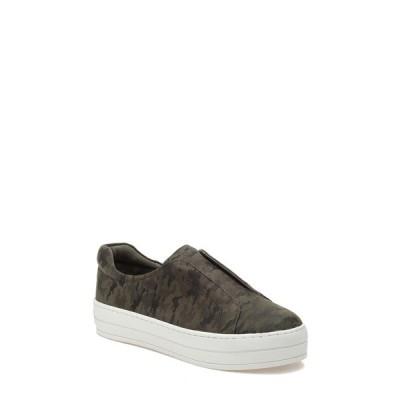 ジェースライズ サンダル シューズ レディース Heidi Platform Slip-On Sneaker Green Camouflage Leather
