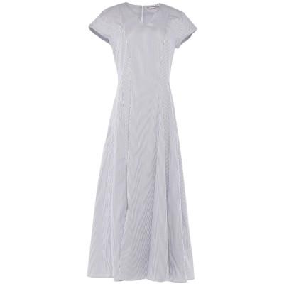 LE SARTE PETTEGOLE ロングワンピース&ドレス ブルー 42 コットン 70% / ナイロン 27% / ポリウレタン 3% ロング