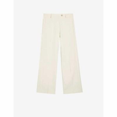 トップショップ TOPSHOP レディース ボトムス・パンツ High-rise wide-leg woven trousers IVORY