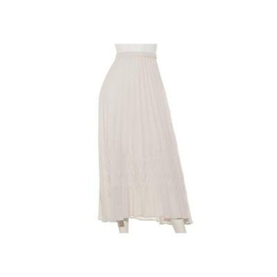 【スカート】変形プリーツスカート (オフホワイト)