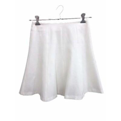 【中古】アンタイトル UNTITLED スカート フレア ミニ 1 白 ホワイト /YK レディース