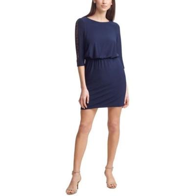 ジェシカハワード レディース ワンピース トップス Petite Blouson-Top Dress