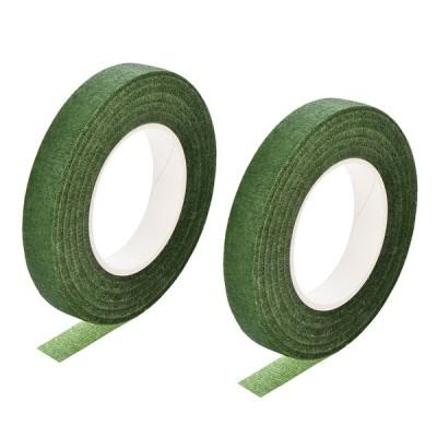 uxcell フローラルテープ 2ロール 12mm幅 30ヤード 花の接着剤 フラワーアレンジメントキット グリーン