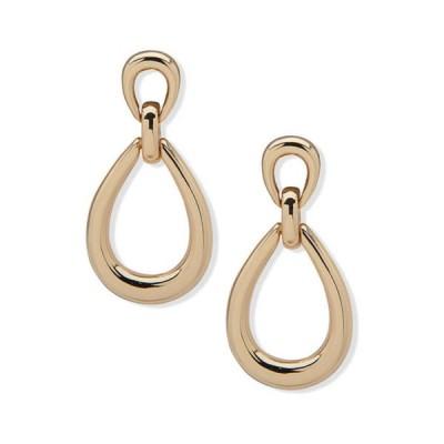 アンクライン レディース ピアス・イヤリング アクセサリー Gold Tone Double Drop Post Earrings