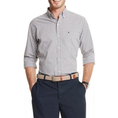 アイゾッド シャツ トップス メンズ Advantage Performance Gingham Button Up Shirt SMOKED PEARL