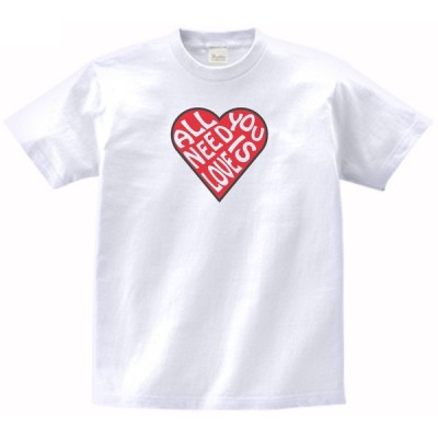 ALL NEE IS YOU LOVE 音楽・ロック・シネマ Tシャツ