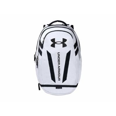 アンダーアーマー バックパック・リュックサック バッグ メンズ Hustle 5.0 Backpack White/Black
