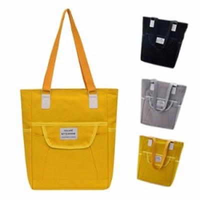 キャンバスバッグ 2way トートバッグ ショルダーバッグ シンプル レディース 軽量 大容量 バッグ 女性 鞄 小さめ a4 キャンバスバッグ フ