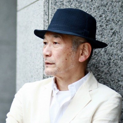 ハット メンズ チェック柄 中折れハット ネイビー 紳士 帽子 日本製 通気性 ハット 熱中症対策 中折帽子 紺