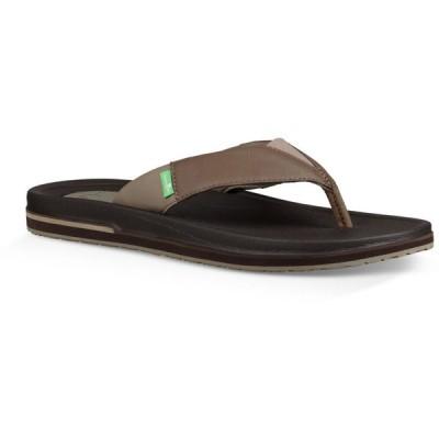 サヌーク Sanuk メンズ サンダル シューズ・靴 Beer Cozy 3 Sandals Brown